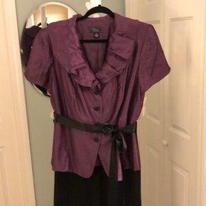 Dressbarn Collection Plus Size Purple Blouse